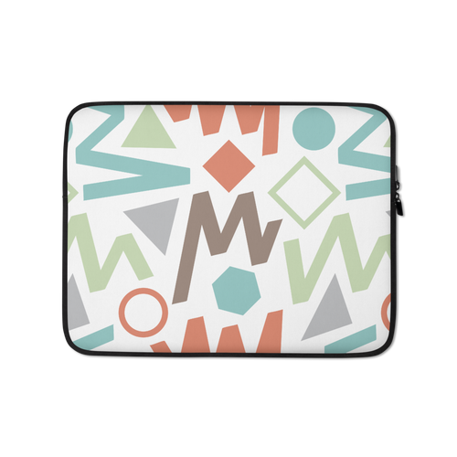 13 in Soft Geometrical Pattern 02 Laptop Sleeve by Design Express