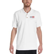 America Tower Pattern Embroidered Polo Shirt by Design Express