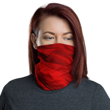 Default Title Red Feathers Texture Neck Gaiter Masks by Design Express