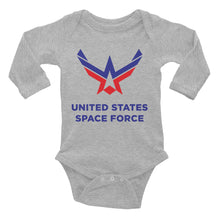 Heather / 6M United States Space Force Infant Long Sleeve Bodysuit by Design Express
