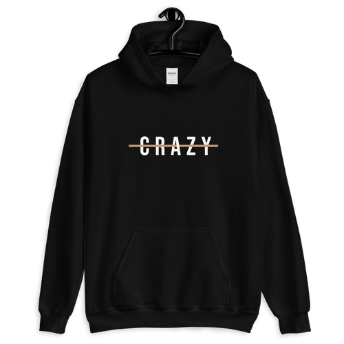 S Crazy Cross Line Unisex Hoodie by Design Express