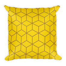 Default Title Diamonds Yellow Square Premium Pillow by Design Express