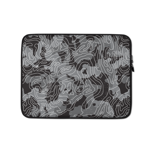 13 in Grey Black Camoline Laptop Sleeve by Design Express