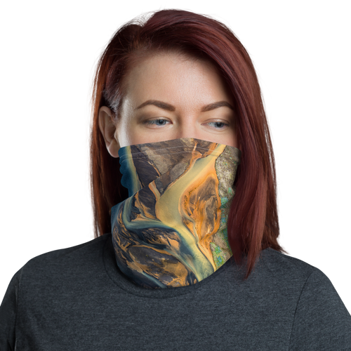 Default Title Icelandic Glacial River Neck Gaiter Masks by Design Express
