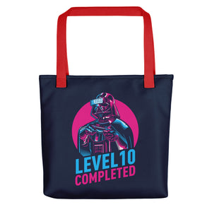 Darth Vader Level 10 Completed (Dark) Tote bag