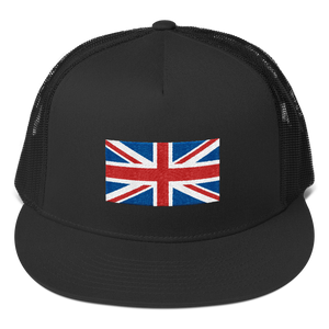 "Black United Kingdom Flag ""Solo"" Trucker Cap by Design Express"