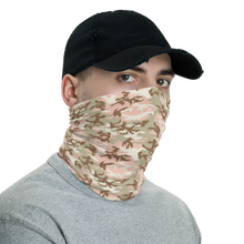 Peach Desert Camo Neck Gaiter Masks by Design Express