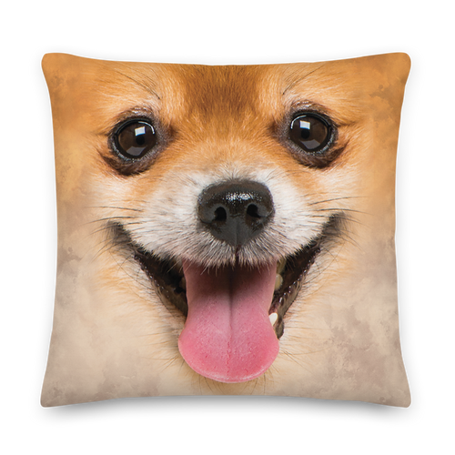 22×22 Pomeranian Dog Premium Pillow by Design Express