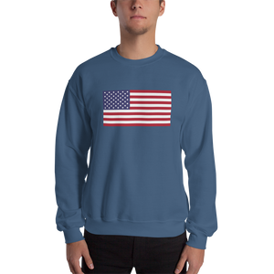 "Indigo Blue / S United States Flag ""Solo"" Sweatshirt by Design Express"