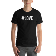 Black / S Hashtag #LOVE Short-Sleeve Unisex T-Shirt by Design Express