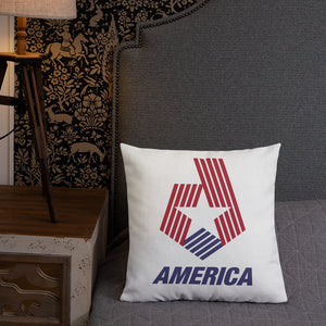 "America ""Star & Stripes"" Square Premium Pillow"