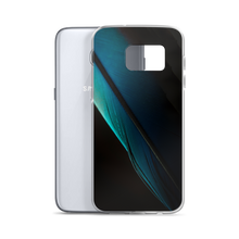 Blue Black Feather Samsung Case by Design Express