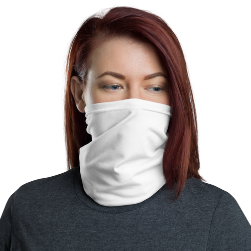 Default Title White Neck Gaiter Masks by Design Express