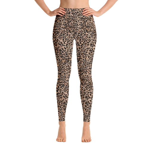 XS Golden Leopard Yoga Leggings by Design Express