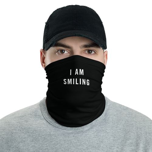 Default Title I Am Smiling Neck Gaiter Masks by Design Express