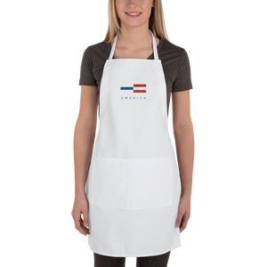 America Tower Pattern Embroidered Apron by Design Express