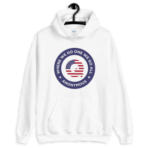 S Q Anonymous America Unisex Hoodie by Design Express
