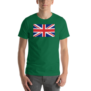 "Kelly / S United Kingdom Flag ""Solo"" Short-Sleeve Unisex T-Shirt by Design Express"
