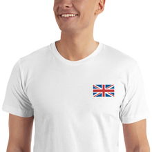 "United Kingdom Flag ""Solo"" Embroidered T-Shirt"