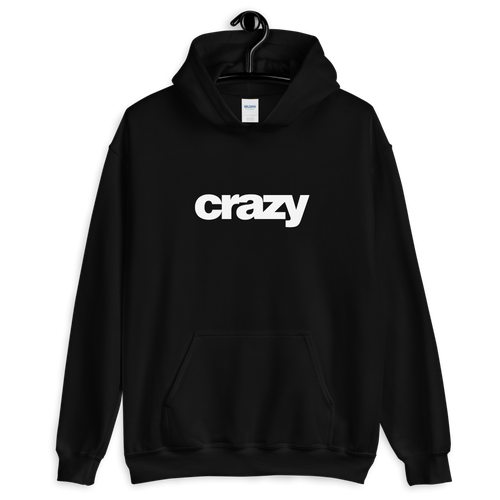 S Crazy Helvetica Black Unisex Hoodie by Design Express