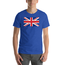 "Heather True Royal / S United Kingdom Flag ""Solo"" Short-Sleeve Unisex T-Shirt by Design Express"