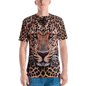 "XS Leopard Face ""All Over Animal"" Men's T-shirt All Over T-Shirts by Design Express"