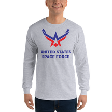 Sport Grey / S United States Space Force Long Sleeve T-Shirt by Design Express