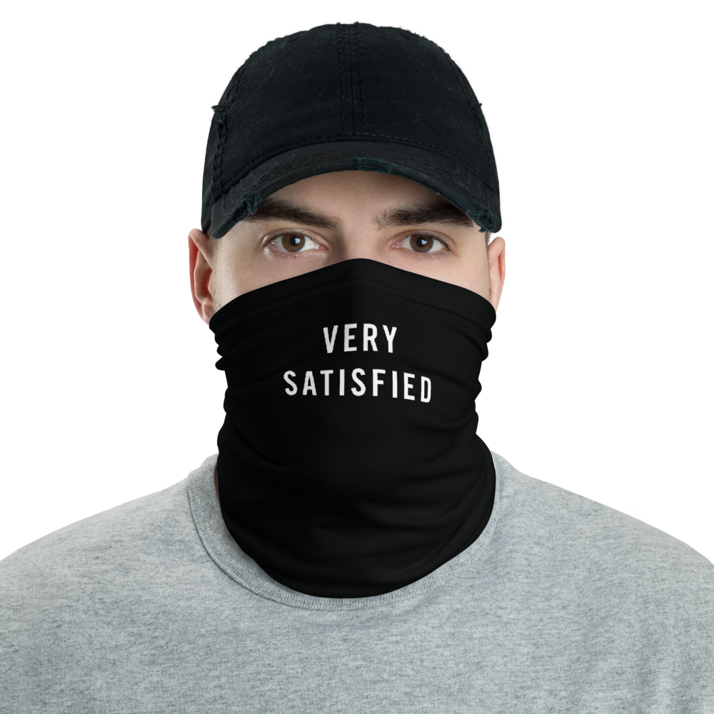 Default Title Very Satisfied Neck Gaiter Masks by Design Express
