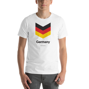 "White / S Germany ""Chevron"" Unisex T-Shirt by Design Express"