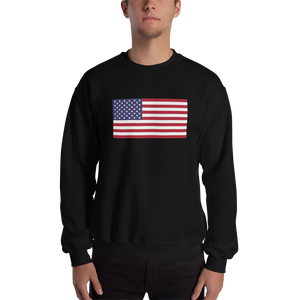 "Black / S United States Flag ""Solo"" Sweatshirt by Design Express"