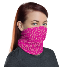 Diamond Magenta Pattern Neck Gaiter Masks by Design Express