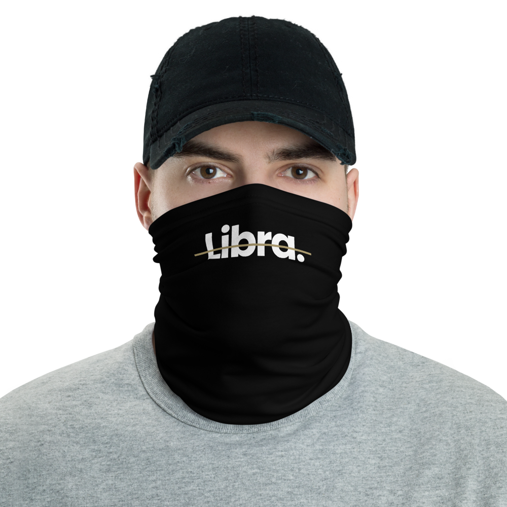 Default Title Libra Strikethrough Neck Gaiter Masks by Design Express