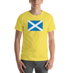 "Yellow / S Scotland Flag ""Solo"" Short-Sleeve Unisex T-Shirt by Design Express"