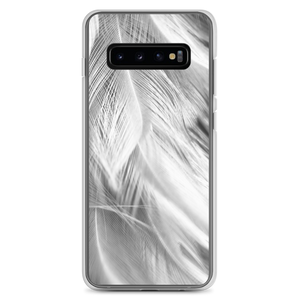 Samsung Galaxy S10+ White Feathers Samsung Case by Design Express