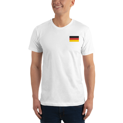 Germany Flag Embroidered T-Shirt by Design Express