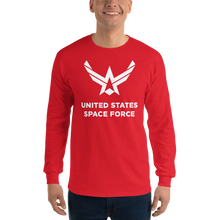 "Red / S United States Space Force ""Reverse"" Long Sleeve T-Shirt by Design Express"