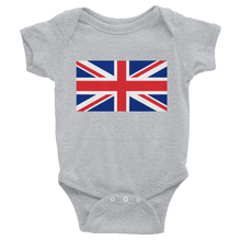 "Heather / 6M United Kingdom Flag ""Solo"" Infant Bodysuit by Design Express"