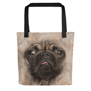Default Title Pug Dog Tote bag Totes by Design Express