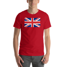 "Red / S United Kingdom Flag ""Solo"" Short-Sleeve Unisex T-Shirt by Design Express"