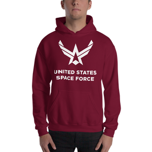 "Maroon / S United States Space Force ""Reverse"" Hooded Sweatshirt by Design Express"