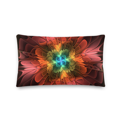 Default Title Abstract Flower 03 Rectangle Premium Pillow by Design Express