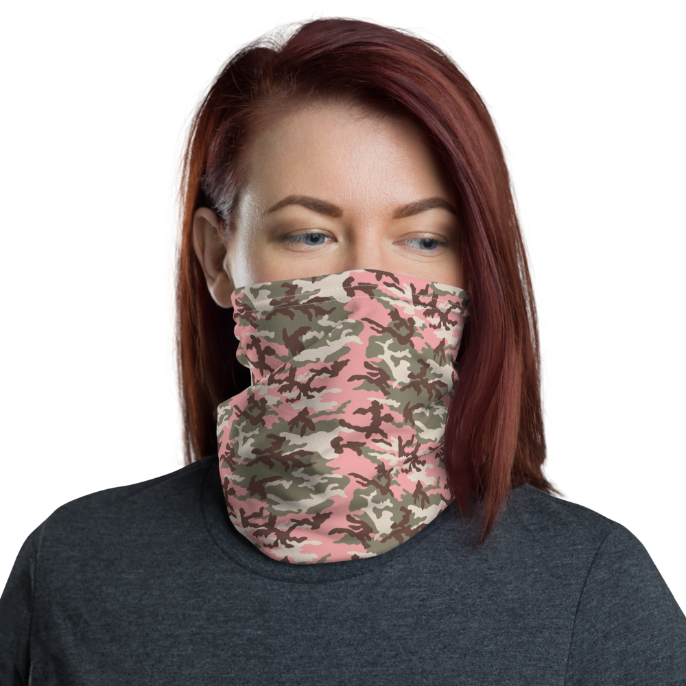Default Title Subdued Pink Camo Neck Gaiter Masks by Design Express