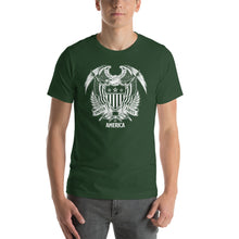 Forest / S United States Of America Eagle Illustration Reverse Short-Sleeve Unisex T-Shirt by Design Express