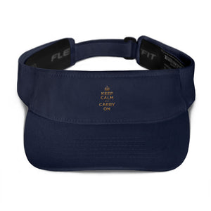 Navy Keep Calm and Carry On (Gold) Visor by Design Express
