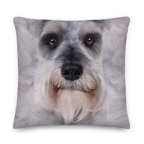 22×22 Schnauzer Dog Premium Pillow by Design Express