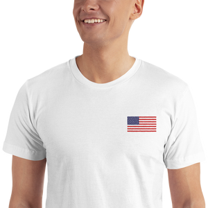 "United States Flag ""Solo"" Embroidered T-Shirt"
