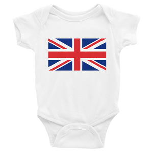 "White / 6M United Kingdom Flag ""Solo"" Infant Bodysuit by Design Express"