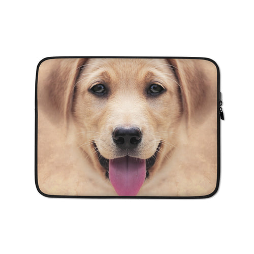 13 in Yellow Labrador Dog Laptop Sleeve by Design Express