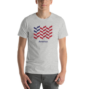 "Athletic Heather / S America ""Barley"" Short-Sleeve Unisex T-Shirt by Design Express"