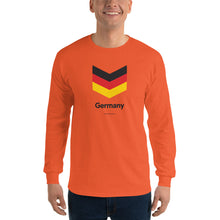 "Orange / S Germany ""Chevron"" Long Sleeve T-Shirt by Design Express"